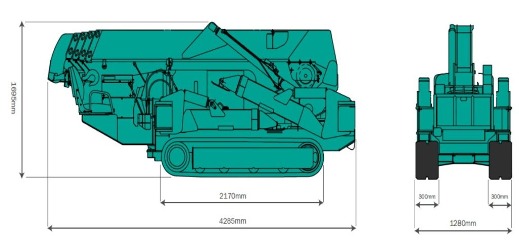 Maeda MC305 Overall Size