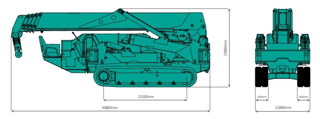 Maeda MC405 Overall Size